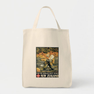 Vintage New Zealand Fishing Tote Bags