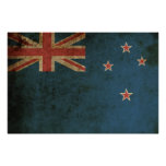 Vintage New Zealand Flag Posters