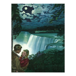 Vintage Newlyweds at Niagara Falls Custom Invites