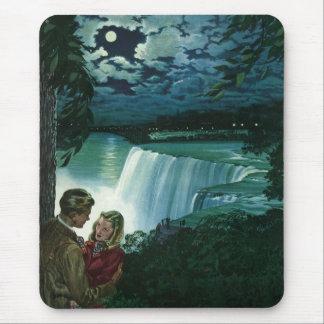 Vintage Newlyweds at Niagara Falls Mousepads