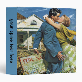 Vintage Newlyweds Buy First House, We're Moving! 3 Ring Binder
