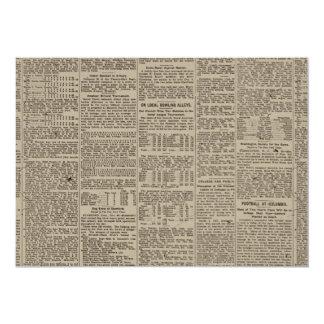 Vintage Newspaper 1902 Card