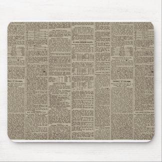 Vintage Newspaper 1902 Mouse Pad