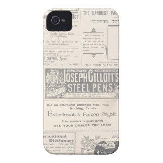 Vintage Newspaper Ad iPhone 4 Case-Mate Case