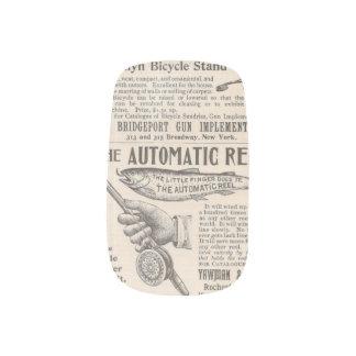 Vintage Newspaper Ads Minx® Nail Art