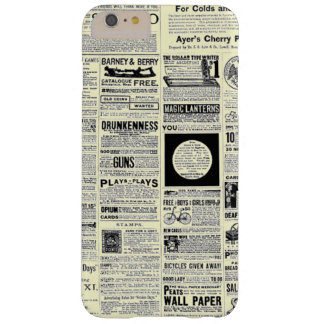 Vintage Newspaper Advertisements Barely There iPhone 6 Plus Case