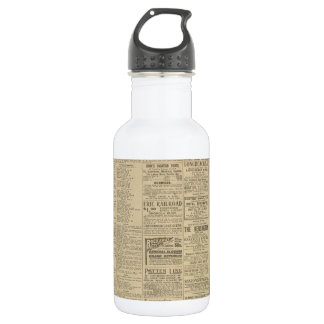 Vintage Newspaper background Water Bottle