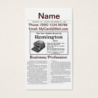 Vintage Newspaper Business Card