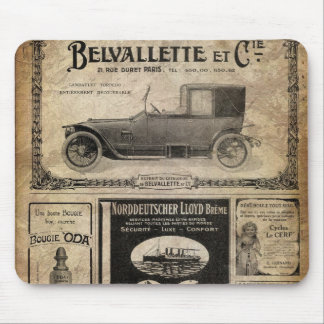Vintage Newspaper Custom Gift Mouse Pad