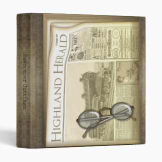 Vintage Newspaper Cuttings Binder