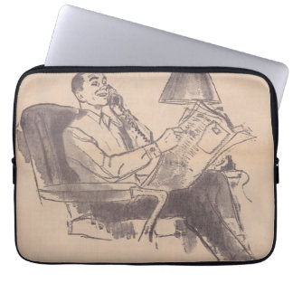 Vintage Newspaper Dad Laptop Bag