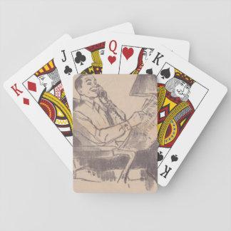 Vintage Newspaper Dad Playing Cards
