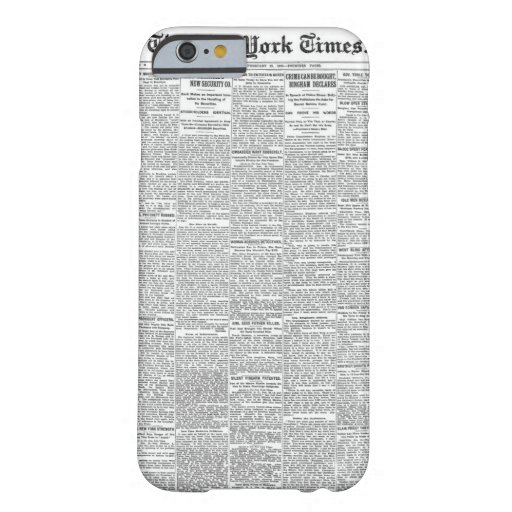 Vintage Newspaper iPhone 6/6s Case | Customizable