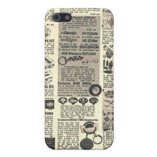 vintage newspaper iPhone SE/5/5s case