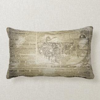 Vintage Newspaper MoJo Throw Lumbar Pillow