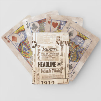 Vintage Newspaper Old Ads, Good News :) Bicycle Playing Cards