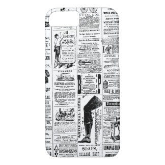 Vintage Newspaper Pattern Customizable Color iPhone 8/7 Case