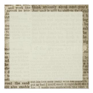 Vintage Newspaper Print Card