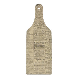 Vintage Newspaper Print Cutting Board