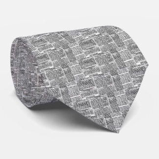 Vintage Newspaper Print Neck Tie