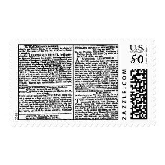 Vintage Newspaper Print Postage