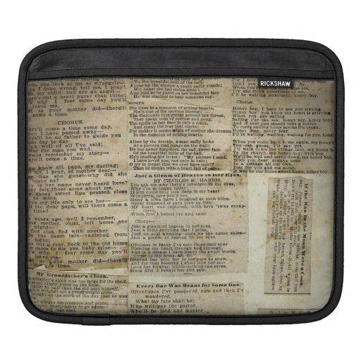Vintage Newsprint Background Old Fashioned iPad Sleeve