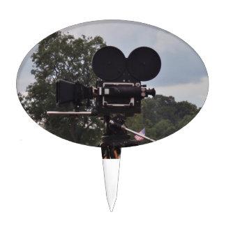 Vintage Newsreel Camera Cake Topper