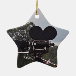 Vintage Newsreel Camera Ceramic Ornament