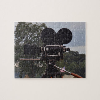 Vintage Newsreel Camera Jigsaw Puzzle