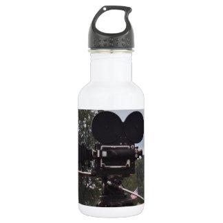 Vintage Newsreel Camera Stainless Steel Water Bottle
