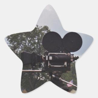 Vintage Newsreel Camera Star Sticker