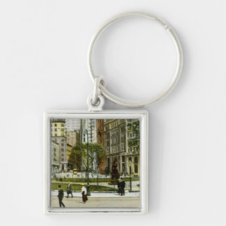 Vintage NewYork, Bowling Green Photograph Keychain
