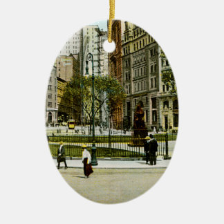Vintage NewYork, Bowling Green Photograph Christmas Tree Ornaments