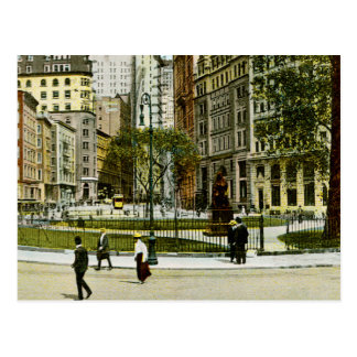 Vintage NewYork, Bowling Green Photograph Postcard