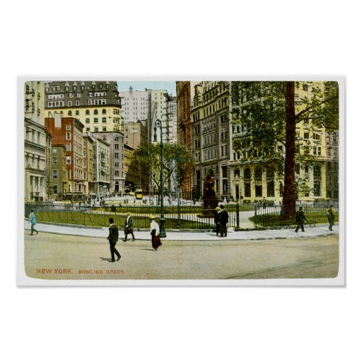 Vintage NewYork, Bowling Green Photograph Posters