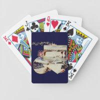 Vintage Niagara Falls Paintings Bicycle Poker Deck