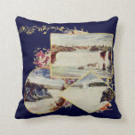 Vintage Niagara Falls Summer Throw Pillow