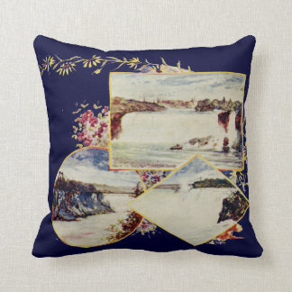 Vintage Niagara Falls Summer Throw Pillow