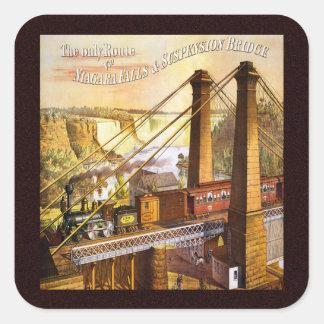 Vintage Niagara Falls Suspension Bridge Stickers