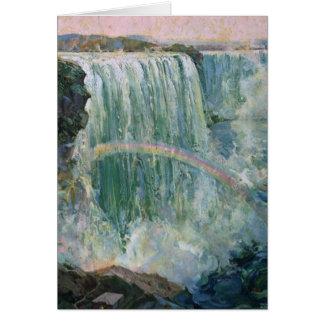Vintage Niagara Falls Tarjeta De Felicitación