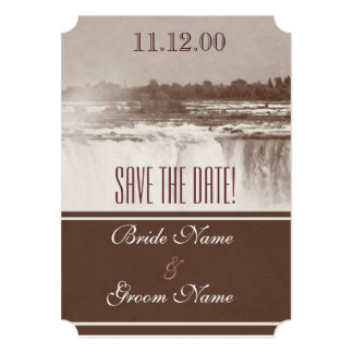 Vintage Niagara Falls wedding invite
