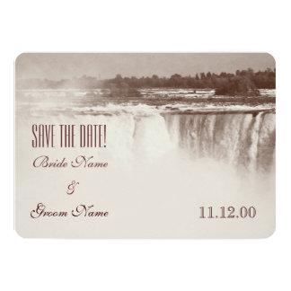 Vintage Niagara Falls wedding invite