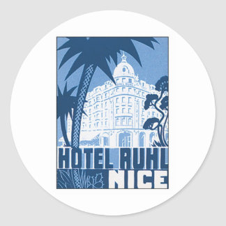 Vintage Nice France Hotel Stickers