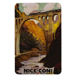 Vintage Nice, France - Rectangular Photo Magnet