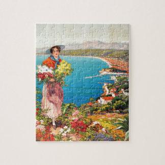 Vintage Nice Reine Cote D'Azur Jigsaw Puzzle