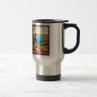 Vintage Nice Reine Cote D'Azur Travel Mug