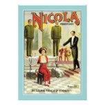 Vintage Nicola Magician Poster Announcement