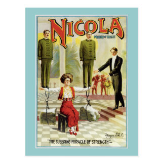 Vintage Nicola Magician Poster Post Cards