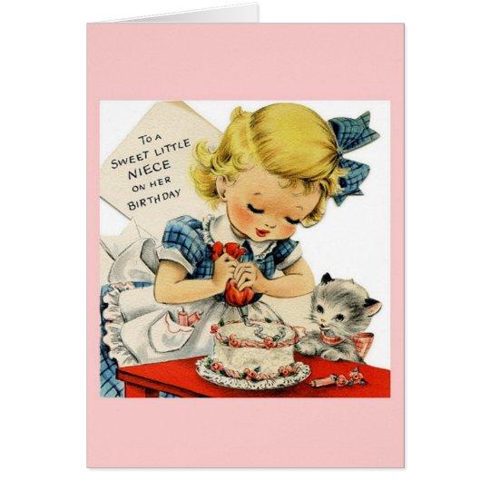 Vintage Niece Birthday Greeting Card