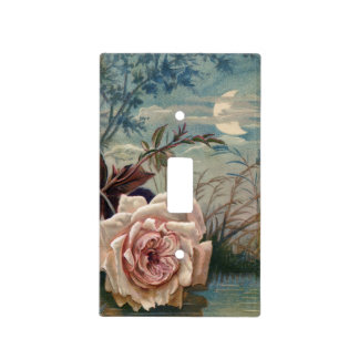 Vintage Night Flower Light Switch Cover